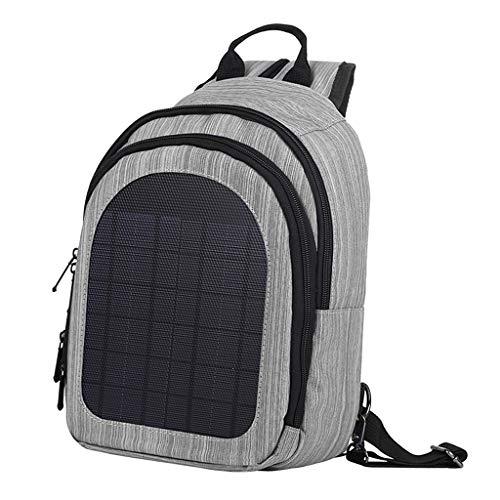 yotijar con Panel de Cargador Solar Mochila Mochila Bolsa para Computadora - Grey
