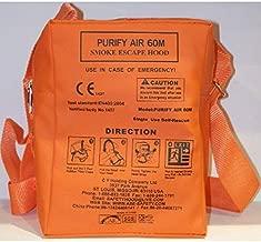 Purify Air 60M CE Fire Escape Smoke Hood, Soft Case