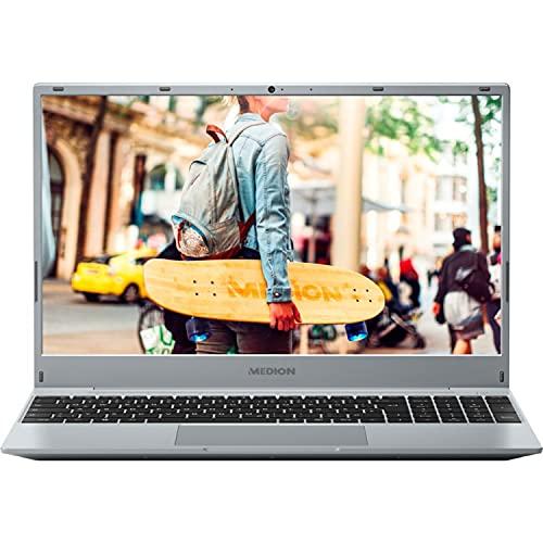 MEDION E15407 39,6 cm (15,6 Zoll) Full HD Notebook (Intel Core i3-1005G1, 8GB DDR4 RAM, 512GB SSD, Webcam, Windows 10 Home)