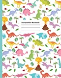 White Dinosaurs Primary Composition Notebook: Journal for Boys & Girls