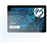 Bruni Schutzfolie kompatibel mit Medion LIFETAB E10714 Folie, glasklare Bildschirmschutzfolie (2X)