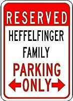 メタル装飾ティンサイン、ヘッフェルフィンガー家族駐車場-材料鉄ポスター絵画ティンサインカフェバーパブホームビール装飾工芸品のヴィンテージの壁の装飾