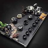 Cinese Ceramica Kung Fu Tea Set Pietra Vassoio di Tè Atomizzato Che Scorre Acqua Visione Pietra Stazione di Tè Semplice Automatico Fornace-D
