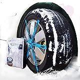 YABIN Cadenas de Nieve Textil, Cadenas Nieve, Cadenas Coche Nieve Set de 2,Rápido y fácil de Instalar y Desmontar (FB72)