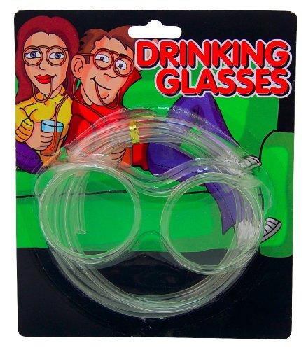 Island Dogs Drinking Glasses Novelty Straws, Standard