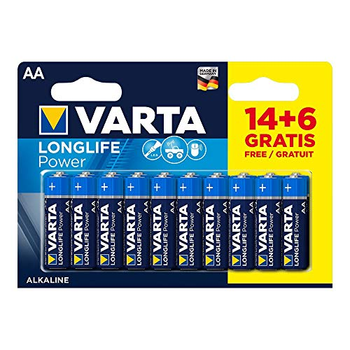 20 Stück AA-Batterien, LR6, 1,5 V, Alkaline Batterie Varta High Energy 2023