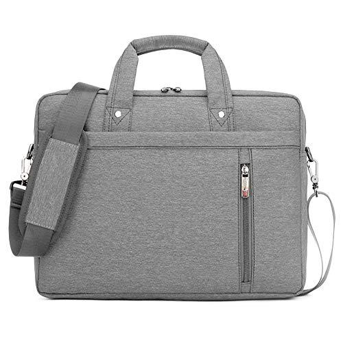 Multifunktional Laptop-Tasche Tragetasche Abdeckung Handtasche Schulter Hülle für Apple MacBook Air Samsung 12 13 14 15 15 6 17 Zoll Notebook-Grau_17 inch