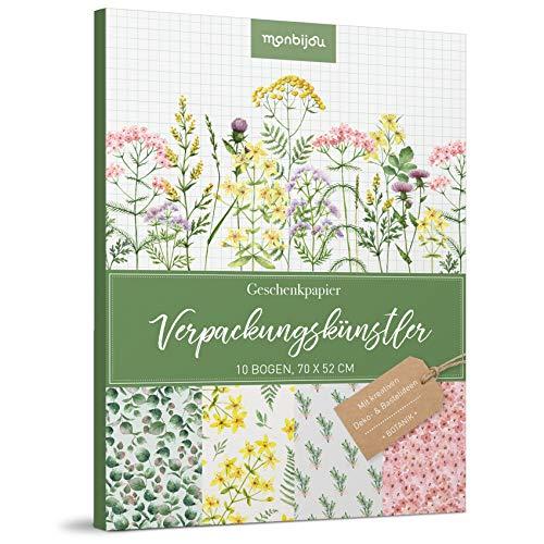 Verpackungskünstler – Botanik: 10 Bogen Geschenkpapier (monbijou)