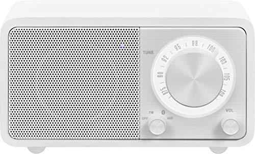 Sangean WR-7 Blanco Mate Radio Analógica Sobremesa FM Bluetooth Batería Li-Ion Recargable
