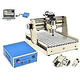 Máquina de grabado de 4 ejes 3040, máquina de grabado VFD, USB router 3D Engraver Milling Tool molinillo fresador