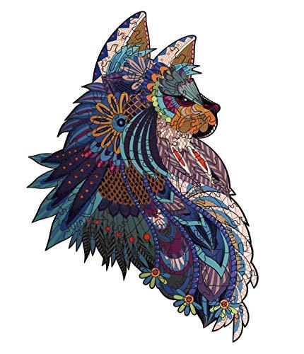 Puzzle de Madera,Rompecabezas de Animales,Puzzle de Colorido
