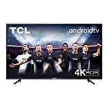 TV TCL 55P616 55 pollici, 4K HDR, Ultra HD, Smart TV con sistema Android 9.0, Design senza bordi (Micro dimming PRO, Smart HDR, HDR 10, Dolby Audio, Compatibile con Google Assistant & Alexa)