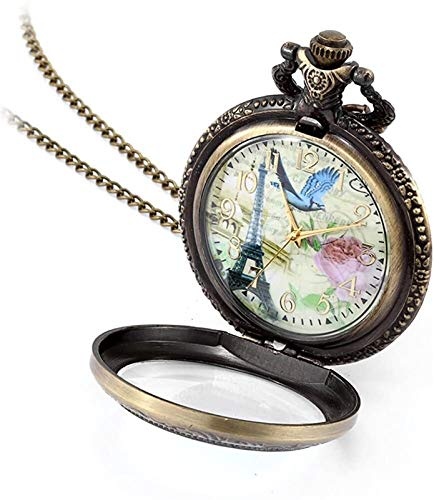 SLL Reloj de Bolsillo Retro Creativo Reloj de Bolsillo Regalo de cumpleaños Reloj de Bolsillo Retro Creativo Reloj de Bolsillo, Regalo de cumpleaños Portátil