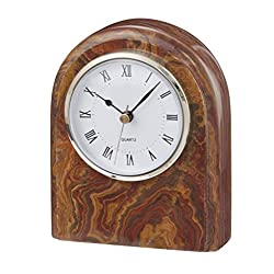 Designs by Marble Crafters Polaris Clock Saffron Brown Onyx (SB)