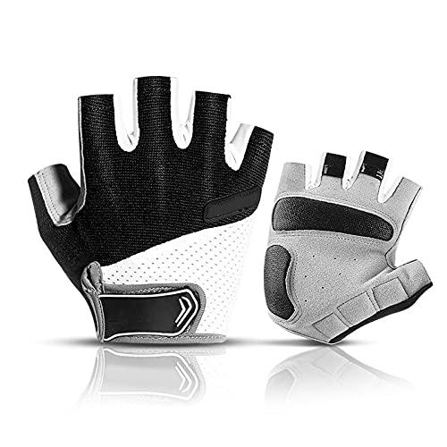 Guantes de remo de gimnasio de protección sin dedos para hombres y mujeres, guantes para pesca, kayak, remo, senderismo, vela, remo (negro L)