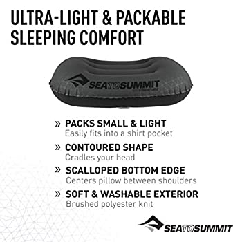 Sea to Summit Aeros 574 Ultralight Pillow Large Coussin de Voyage Gonflable Gris