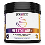 Zhou MCT Collagen | with Organic Prebiotic Fiber & Ceylon Cinnamon | 25 Servings, 13.4 Oz