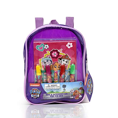 Paw Patrol Coloring and Activity Book Set, Includes Markers, Stickers, Mess Free Crafts Color Kit in Travel Backpack, for Toddlers, Boys and Kids
