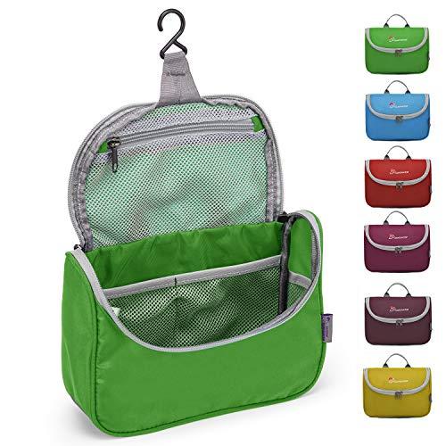 Mountaintop Kulturbeutel Kosmetiktasche Kulturtasche zum Aufhängen Toiletry Bag Waschtasche für Reise Urlaub, 23.5 x 6 x 17 cm (Springgreen)