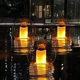6. Solar Pool Lights,Floating Solar Flame Lights Flickering IP68 Waterproof Pool Glow Balls,Outdoor Lantern Landscape Decoration Light Up Balls for Pool,Pond,Spa,Hot tub,Fountain,Garden,Patio, Yard-1pcs