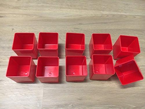 Preisvergleich Produktbild 10Stück Insert45 Einsatzboxen rot für EuroPlus Flex und EuroPlus Metall