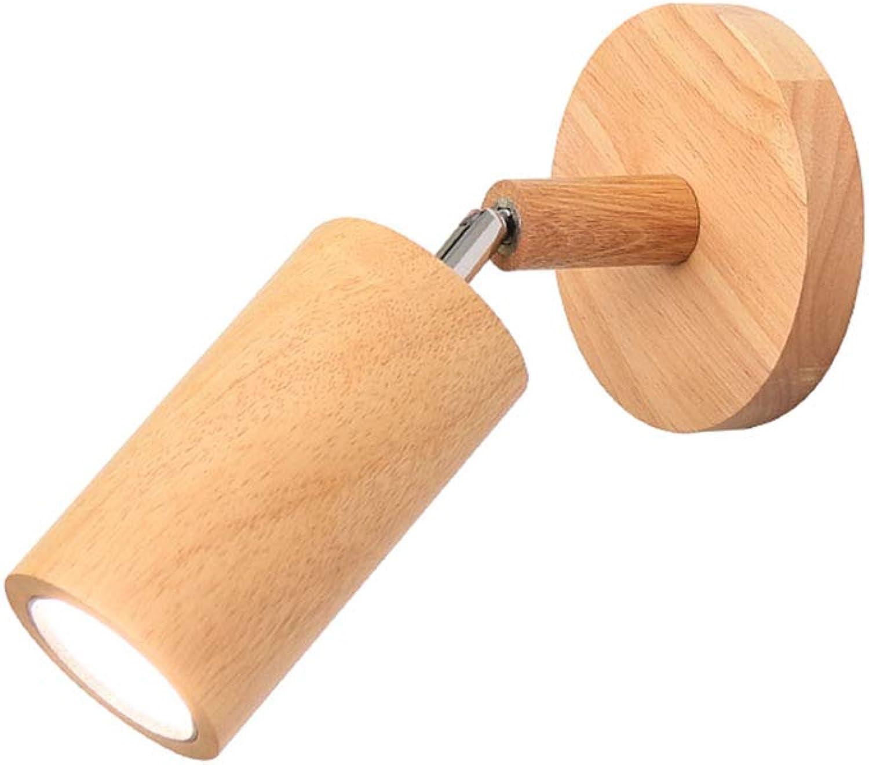 LED Log Wandleuchte Wohnzimmer Schlafzimmer Nachtwandleuchte Nordic Holz drehbare Wandleuchte,warm light