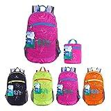 EGOGO Wasserdicht Faltbare Stopfbare Wandern Reisen Rucksack School Tasche Rucksack für Mädchen Jungen College Studenten S2016 (Rose)