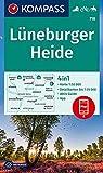 KV WK 718 Lüneburger Heide: 4in1 Wanderkarte 1:50000 mit Aktiv Guide und Detailkarten inklusive Karte zur offline Verwendung in der KOMPASS-App. Fahrradfahren. Reiten. (KOMPASS-Wanderkarten, Band 718)
