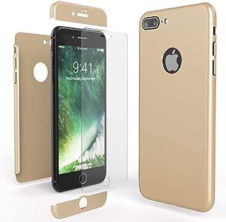 CUSTODIA INTEGRALE PER Apple IPHONE 8 a Specchio Nero + Vetro