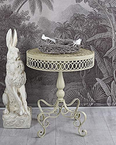 Gartentisch Shabby Chic Tisch im Antikstil Metalltisch Gartenmöbel AJA018 Palazzo Exklusiv