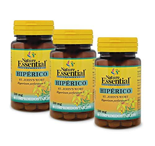 NATURE ESSENTIAL | Hipérico 375 mg | 60 Comprimidos. (Pack 3 unid.)