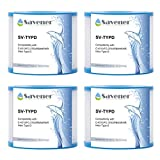 Savener SV-TYPD Swimming Pool Replacement Filter Cartridge Type D Hot Tub Filter Replaces for Unicel C-4313 2.5Sq.ft FC-3753 PBW4PAIR 4 Pack