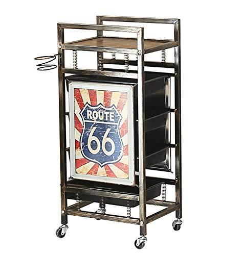 FMEZY Retro Goud Salon Kappers Trolley 4 Laden Rolling Cart Opslag Haardroger Houder 5 Lagen forbarber Haarkleuring