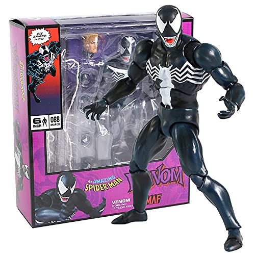 Venom Mafex 088 Comic Version Spiderman Action Figure Model Collect Toy Gift For Kids 16Cm
