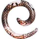 Body Candy 8 Gauge Blushing Snake Skin Pattern Acrylic Spiral Taper Ear Gauge Plug (1 Piece)