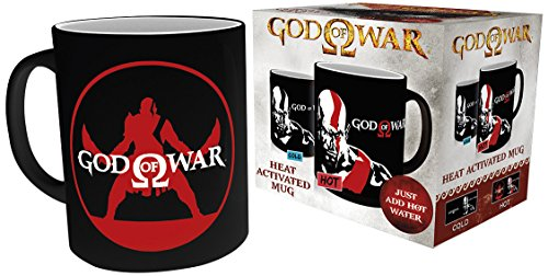 God Of War Kratos - mit Thermoeffekt Tasse schwarz