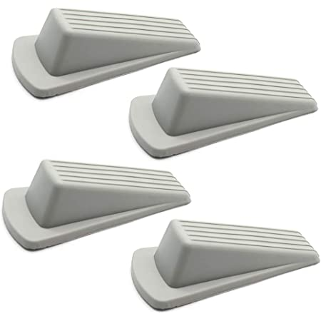 Grey Rubber Heavy Duty Rubber Door Wedge 120mm New Free Postage Pack of 5
