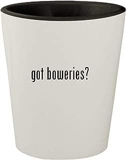 got boweries? - White Outer & Black Inner Ceramic 1.5oz Shot Glass
