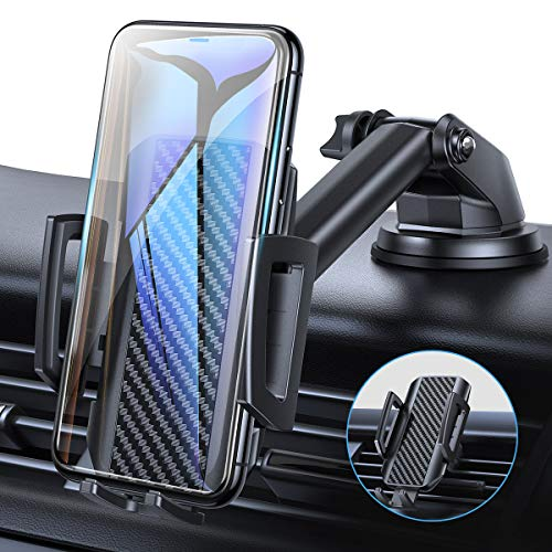 AINOPE Handyhalterung Auto, 3 in 1 Multifunktions Halterung Handy Auto[Case Friendly] Verstellbare Saugnapf handyhalterung kfz Universale lüftung Handy Halter für iPhone, Samsung, Huawei, Sony, LG