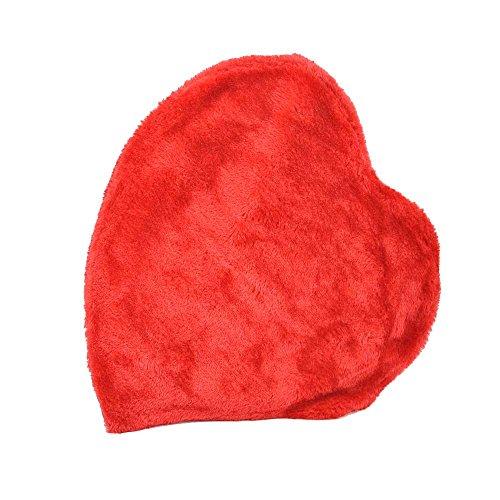 Herz-Wärmflasche 1,65 Liter, Herz Herzform Wärmeflasche mit Plüschbezug, rot