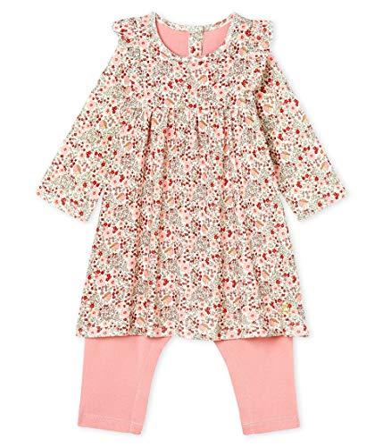 Petit Bateau Robe Legging ML_5221701, Multicolore (Marshmallow/Multico 01), 86 (Taille Fabricant: 18M/81centimeters) Bébé Fille