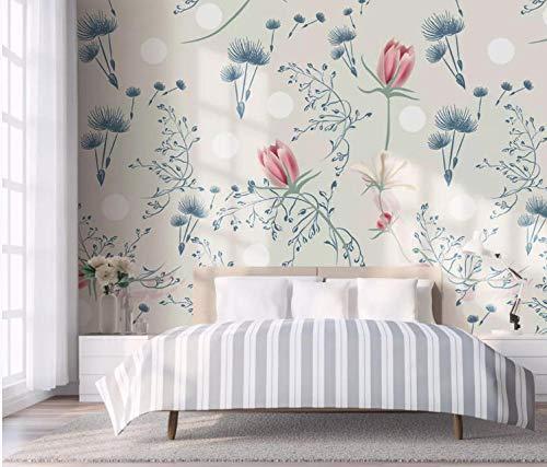 Murales Murales Fotobehang De minimalistische bloem in Scandinavische Del Tulipano Lascia La Wand in de slaapkamer Poster Gigant Fotobehang Muurschilderingen Wanddecoratie 140CMx100CM