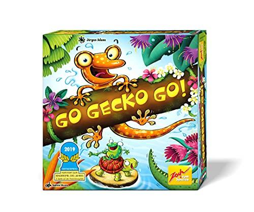 Zoch 601105129 - Go Gecko Go! - Nominiert zum Kinderspiel des Jahres 2019, Gemeinschaftsspiel für die ganze Familie, für 2-4...