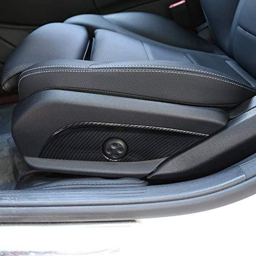 GJJSZ ABS Kunststoff-Autositzverstellschalter Abdeckblende Verkleidung Kohlefaser-Stil Kompatibel mit Mercedes Benz E w212 W213 GLC 2015 C W205 CLS-Klasse