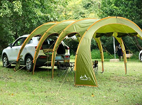 NANDAN Toldo Coche Tienda del pabellón, Camping al Aire Libre SUV túnel de Coches Tienda de campaña Auto-conducción Tour Barbacoa Lluvia Visera Gazebo, Playa de la Tienda del pabellón (8-10 Personas)