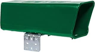 Plastic Newspaper Delivery Tube Box Receptacle & Mounting Bracket, Green