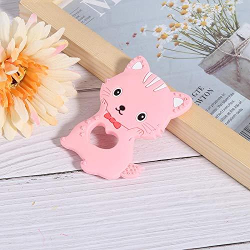 Mordedor para bebés, Juguetes para la dentición del bebé, Silicona de grado alimenticio para niños Bebé(pink)