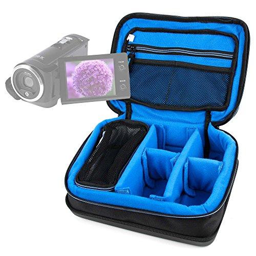 DURAGADGET Bolsa Acolchada Profesional Negra con Compartimentos para Videocámara ESDY 720P   inkint 16x Full HD   Panasonic HC-V180EC-K   HC-V180EG-K Full HD   HC-VX980EG-K