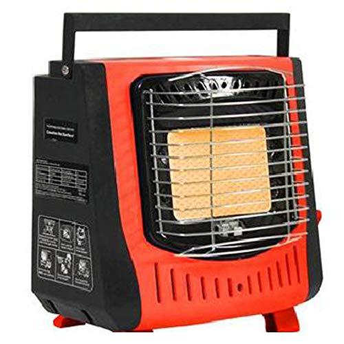 George verwarmingstoestel voor camping, energiebesparend, butaangasfles, propaangasfles, verwarmingstoestel energiebesparend voor camper, auto, garage en outdoor, verwarmingstoestel zonder stroom Medium rood