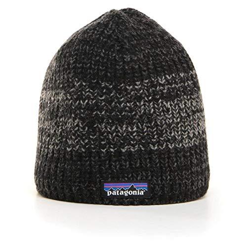 Patagonia Beanie Baskenmütze, Schwarz/Grau (Speedway Twist/Black/Forge Grey), Einheitsgröße